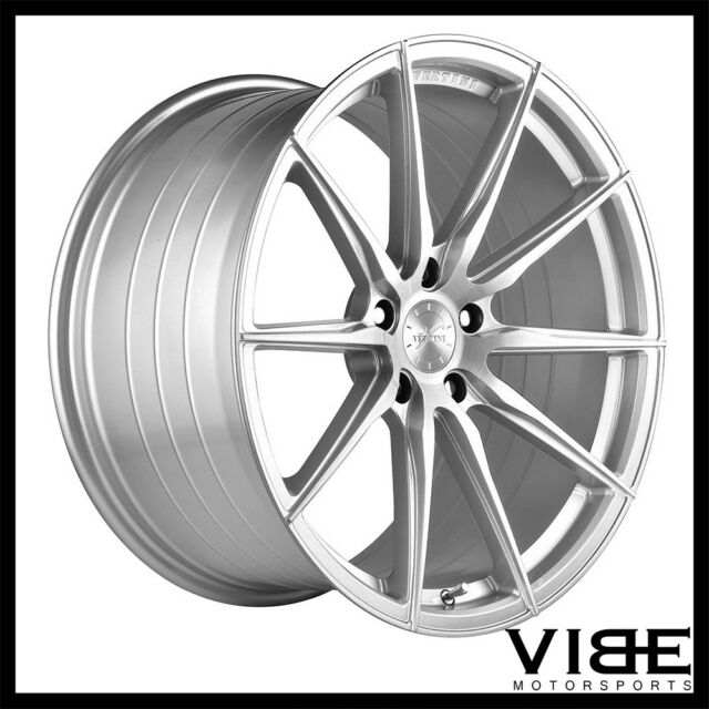 "19"" VERTINI RF1.1 SILVER FORGED CONCAVE WHEELS RIMS FITS"