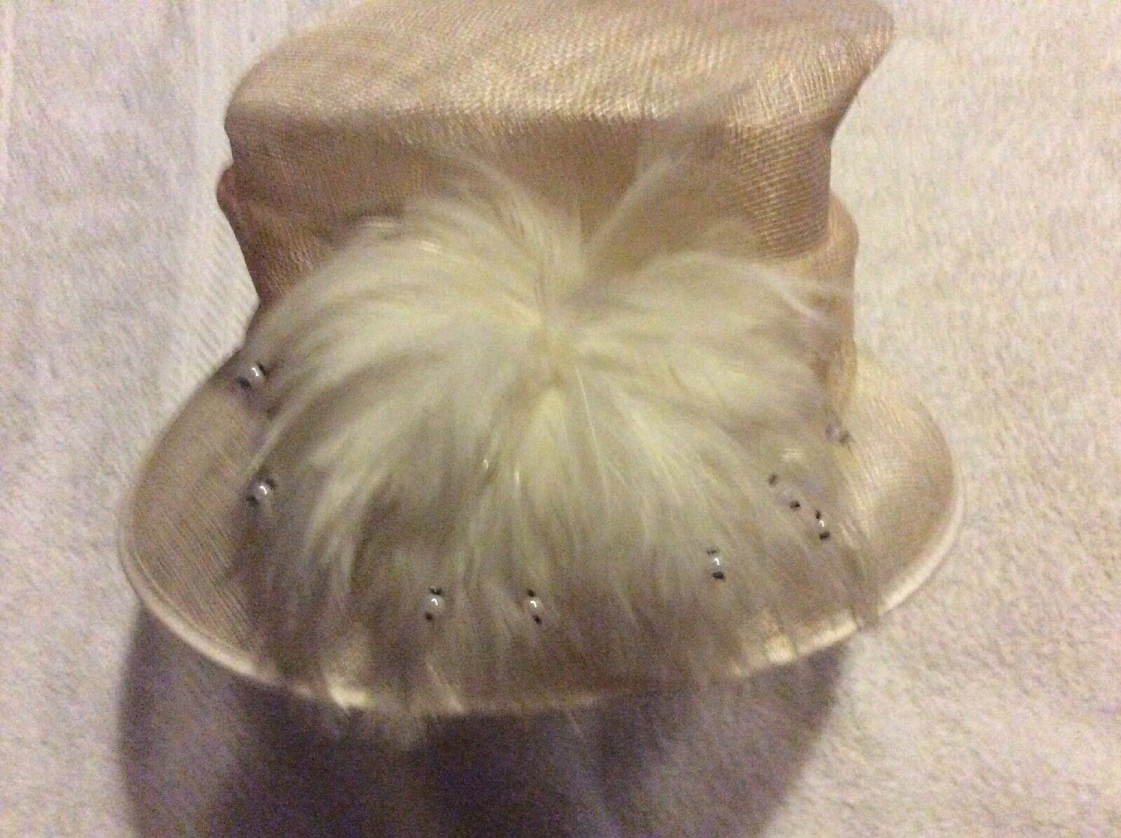 Ladies Cream Wedding Hat , Worn Once For Nieces Wedding , From Hat Box.