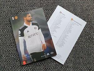 Fulham v Manchester United PREMIER LEAGUE Programme 20/1/21 IMMEDIATE DISPATCH!!