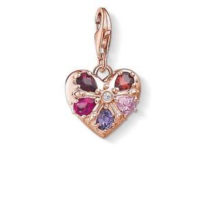 af8223d6e2ca Genuine Thomas Sabo Rose Gold Royal Heart Red Pink Purple Stone ...
