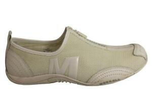Brand-New-Merrell-Barrado-Womens-Comfortable-Flat-White-Casual-Zip-Shoes