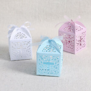 Wedding Expo Gift Bags : ... Laser-Cut-Candy-Gift-Boxes-w-Ribbon-Wedding-Party-Favor-Baby-Show-bag