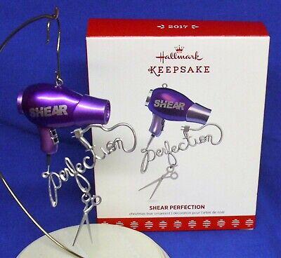 Hair Dryer /& Scissors 2017 Keepsake Ornament Shear Perfection Hallmark