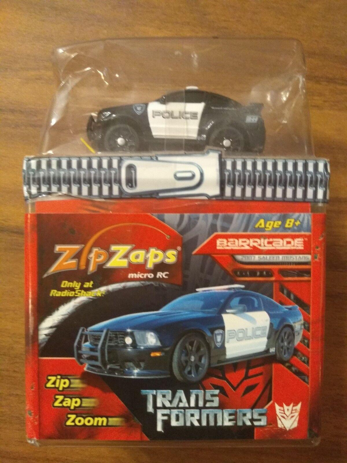 NIP Factory Sealed ZipZaps Transformers Barricade 2007 Saleen Mustang RARE HTF
