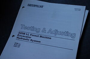 caterpillar 320b excavator hydraulic system test adjusting service rh ebay com cat 315b service manual Cat 312B Excavator 2000