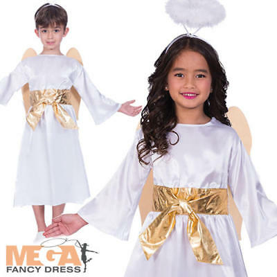 Angelo Gabriele Bambini Costume Natale Natività Ragazzi Ragazze Natale Costume Vestito-mostra Il Titolo Originale