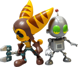Ratchet-amp-Clank-Limited-Edition-Vinyl-Figure-Set-Official-Insomniac-Games