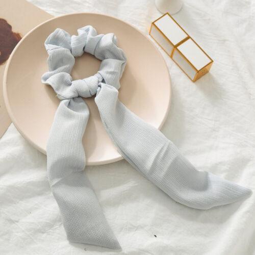 1pcs Hair Tie Scrunchies Rabbit Bunny Ear Bow Bowknot Scrunchie Velvet Girls