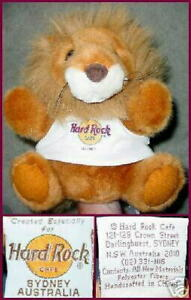 Hard-Rock-Cafe-SYDNEY-1995-LION-Hand-Puppet-PLUSH-LE-600-plush-Golden-amp-Fluffy