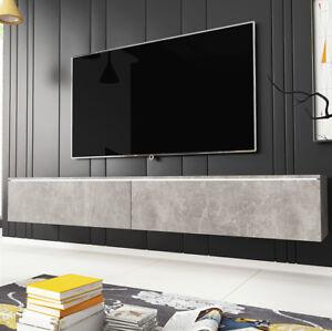 Details zu TV-Lowboard Geran 180 Tisch Stilvoll Wohnzimmer Sideboard Hänge  TV-Schrank