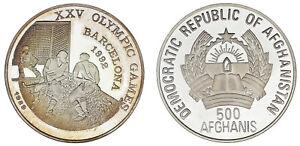 500-SILVER-AFGHANIS-PLATA-1992-AFGHANISTAN-BARCELONA-1992-HOCKEY-PROOF