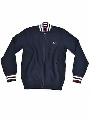 Fred Perry Strickweste K6378 608 Navy / Bordeaux #5678