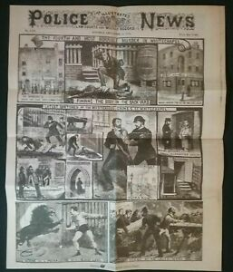 POLICE-NEWS-1888-JACK-THE-RIPPER-8-PAGES-NEWSPAPER-FORMED-SENSATIONAL-PAGES