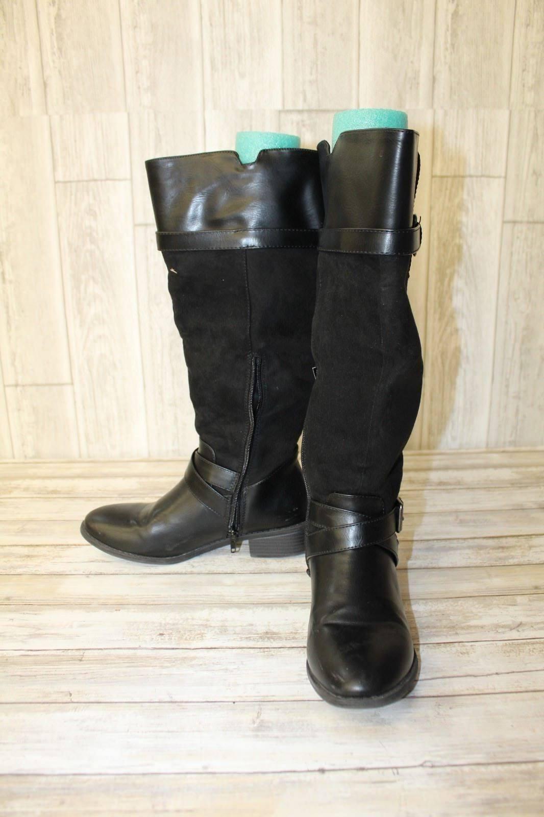 Rampage Ireena Tall Boots - Women's Size 7W Wide Calf Black