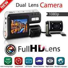 1080P Dual Lens CAR DVR Vehicle Video Dash Camera Recorder Night Vision G-sensor
