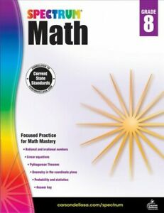 Spectrum-Math-Grade-8-Paperback-by-Spectrum-COR-Brand-New-Free-shipping