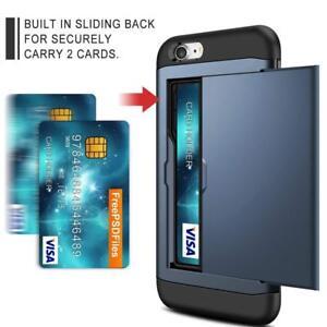98b7a7cc41 Coolden iPhone 7 Plus 8 Plus Case, Armour Shockproof Case Wallet ...