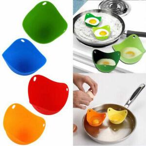 4X-Silikon-Egg-Poacher-Koch-Poach-Pods-Kueche-Kochgeschirr-Pochierte-Backform-DE