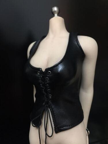 """1//6th FINAL FANTASY youna Gilet in finta pelle per 12/"""" UD JO PH Corpo Figura di Donna"""