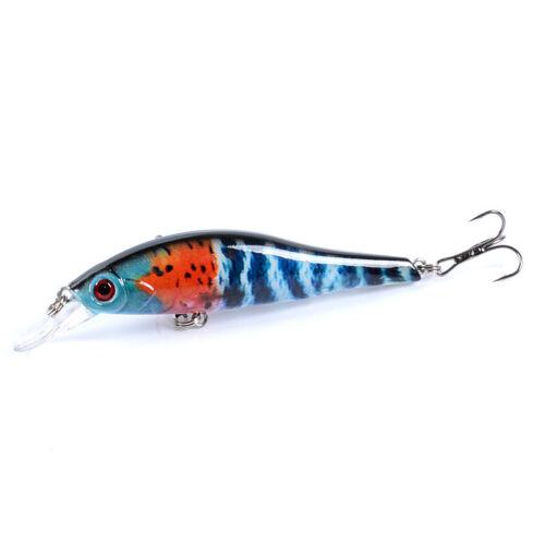 6PCS 9.5cm//11.5g Fishing Lures Minnow Plastic Hard Bait Crankbait Tackle Crank
