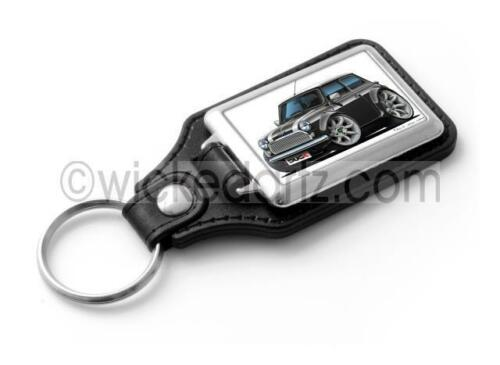 RetroArtz Cartoon Car Classic Rover Mini Cooper in Black Classic Key Ring