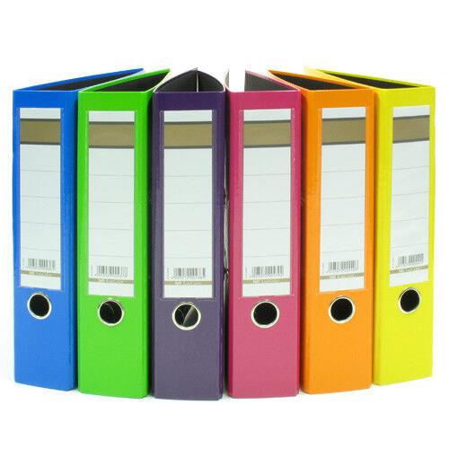 6x Aktenordner 75mm breit DIN A4 6 verschiedene Farben