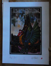 """ROLLING STONES """"Cardiff"""" signierte Lithographie RARE"""