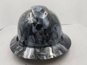 FULL-BRIM-Hard-Hat-custom-hydro-dipped-NEW-PARADISE-LOST-SKULLS-GUNMETAL-NEW