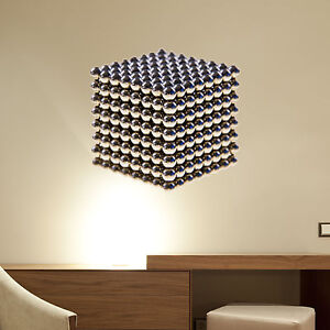 Metal-Beads-Cube-Wall-Decal-Wall-Sticker-Home-Decor-Wall-Mural