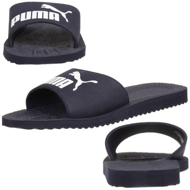7439229540e3 PUMA Purecat Unisex Adult Sandals Bath Slippers Blue EUR 48 5
