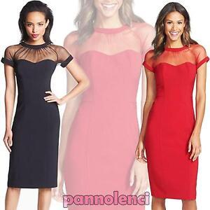 4d5150389e9a Vestito donna mini abito miniabito business look elegante velato ...