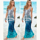 Women Evening Party Dress Boho Summer Beach Slim Long Maxi Dresses Sundress RH