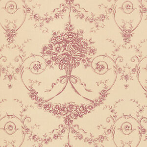 Cotton-100-Satin-weave-Fabric-Bedding-Clothes-Covering-Antique-Damask-Beige-44-034