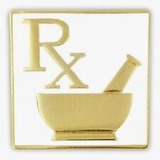 RX Pharmacy Pharmacist Pharmacy Technician Mortar Pestle Lapel Pin New