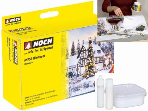 NOCH 08758 Winter Set Schnee Eiszapfen Eiskristalle Komplettset H0 0 TT N Z Neu