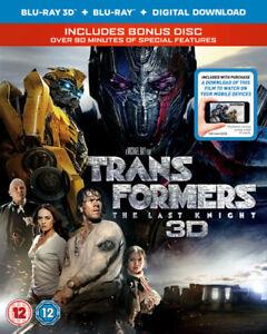 Transformers - The Last Knight Blu-Ray (2017) Mark Wahlberg, Bay (DIR) cert 12