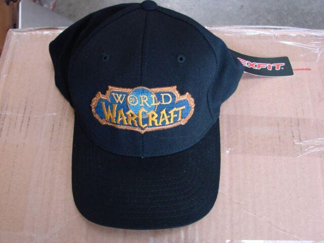 c9215d2134e Genuine World of Warcraft Black Ball Cap Hat Large to XL size Flexfit