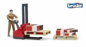 UPS Logistics Pallet Truck Figure Playset - Bruder 62210 NEW