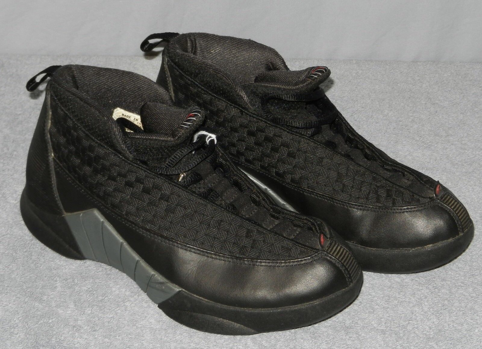 Boys Original 1999 Air Jordan 15 XV Stealth Shoes Size 6 Y Black Gray 134090