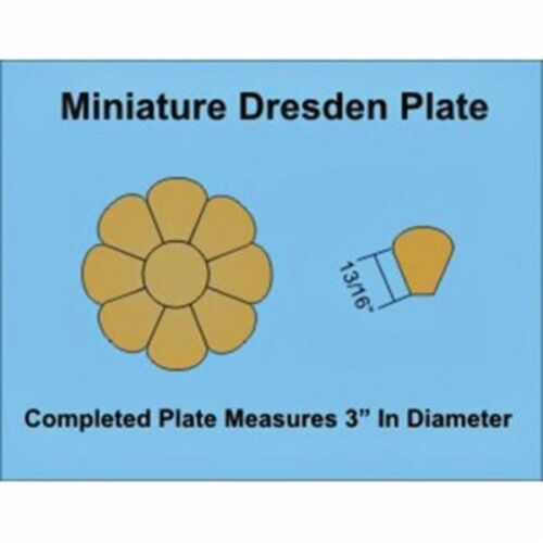 """Paper Pieces Miniature Dresden Plate Paper Templates for 4/"""" Block Set of 3"""