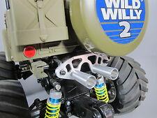 New Aluminum Muffler Battery Stopper Holder Tamiya 1/10 RC Wild Willy Farm King