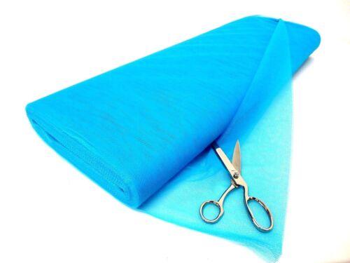 Vestito Netto 100/% poliestere tessuto tulle materiale-FLO BLU