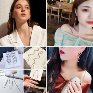 Fashion-Dangle-Drop-Stud-Earrings-Long-Women-Rhinestone-Party-Gift-Jewellery-Hot
