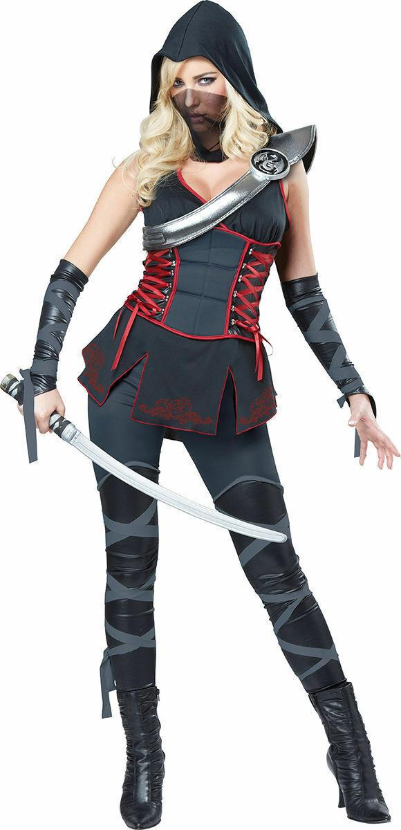 California Costumes Women's Sexy Stealth Ninja Costume. 01357 Size XS
