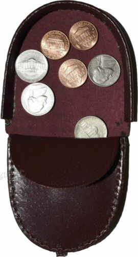 Coin case Vintage styled change purse BNWT Unisex Leather change purses