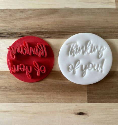 Thinking Of You Cake /& Cookie Embosser Stamp Cake Decorating Get Well Soon