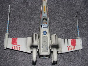Star-Wars-Luke-Skywalker-039-s-Red-Five-X-Wing-Fighter-Electronic-F-X-POTF-Huge-20-034