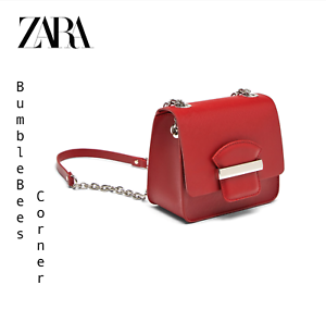 a877f78a45e ZARA Mini CrossBody Bag FLAP DETAIL Shoulder Bag RED Sturdy HandBag ...