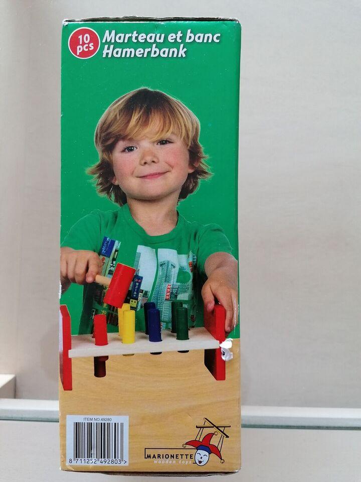 Blandet legetøj, Hammer bræt. Med smukke farver. I træ.,