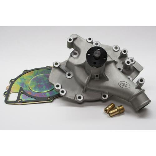 PRW Water Pump 1446000; Satin Aluminum Mechanical for Ford 429//460 BBF